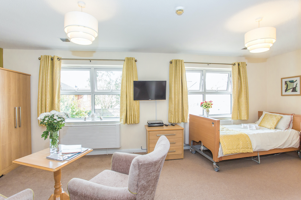 Cloisters Care Home Bedroom