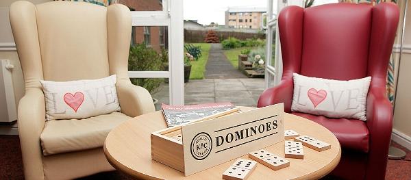 Craigbank care home lounge