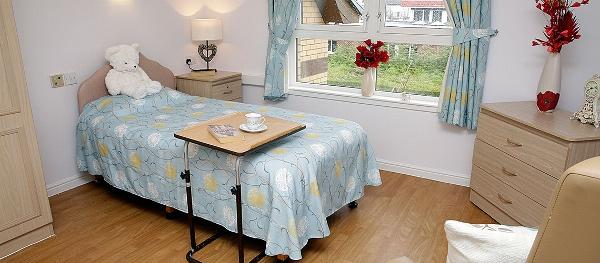 Deanfield Care Home bedroom