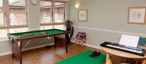 Elderslie Care Home games room