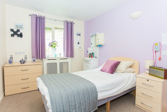 Longwood care home bedroom