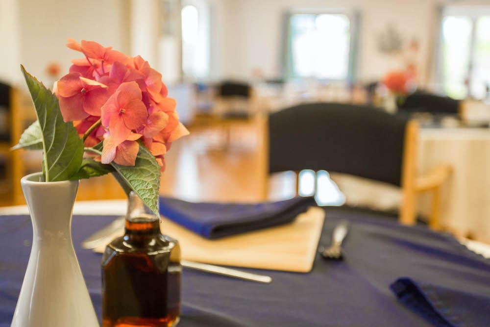 Madeira Care Home dining