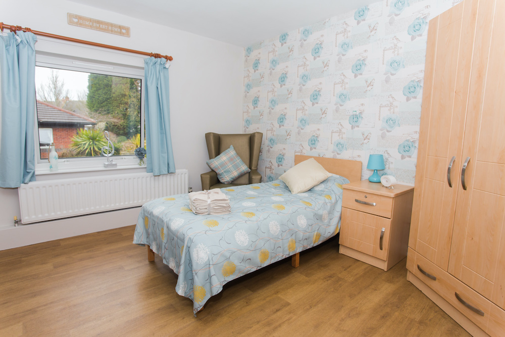 Parklands Court Care Home bedroom