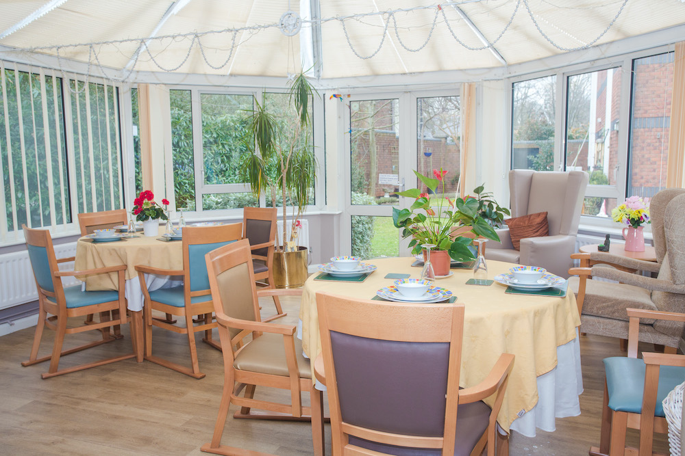 Parklands Court Care Home dining
