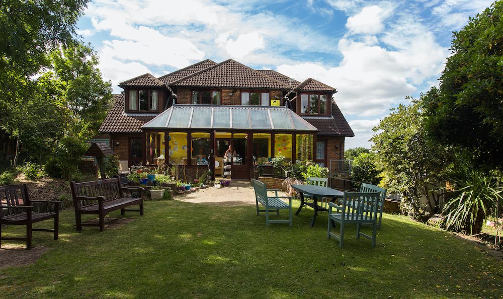 The Priory Care Home garden
