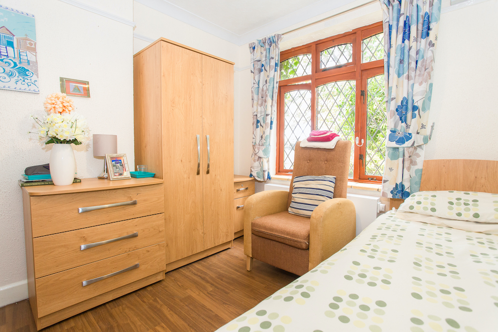 The Priory Care Home bedroom