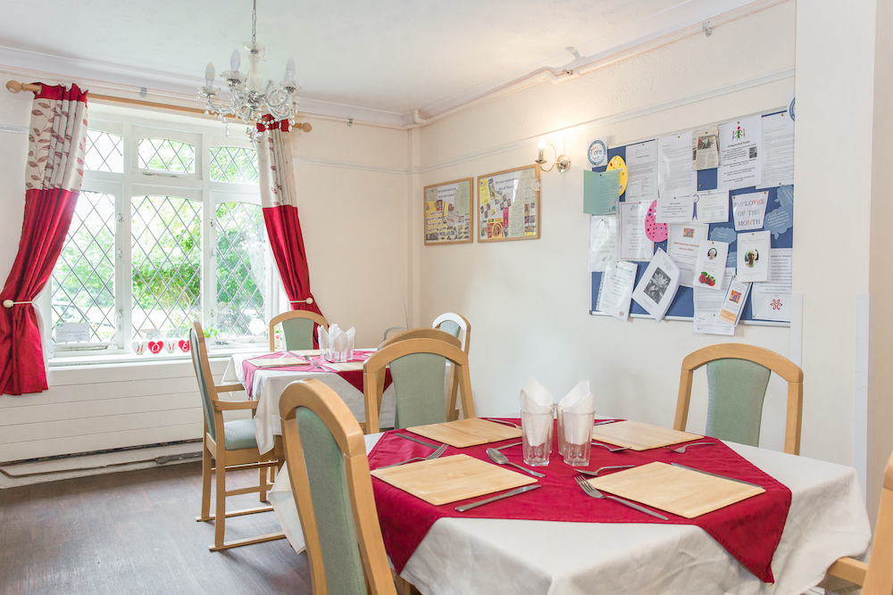 The Priory Care Home dining
