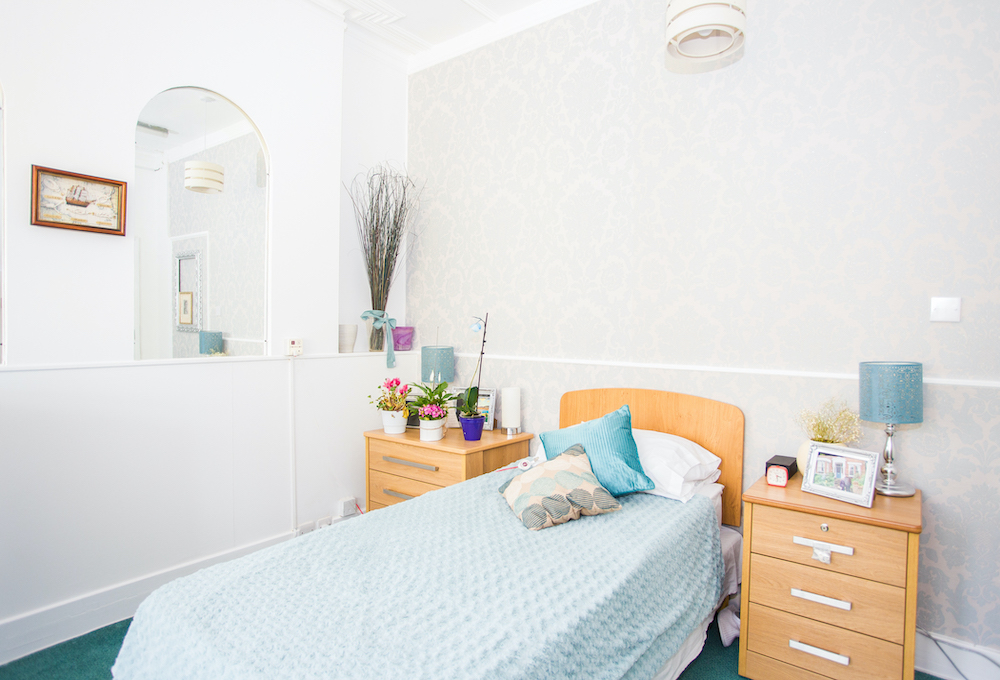 Roseacres Care Home bedroom