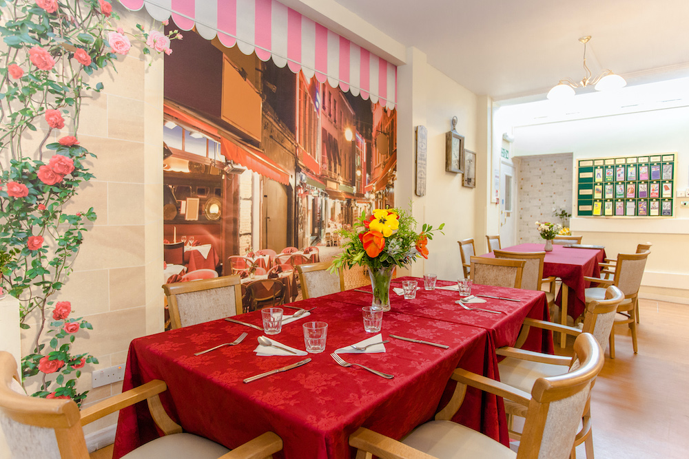 Roseacres Care Home dining