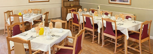Stonedale Lodge care home dining