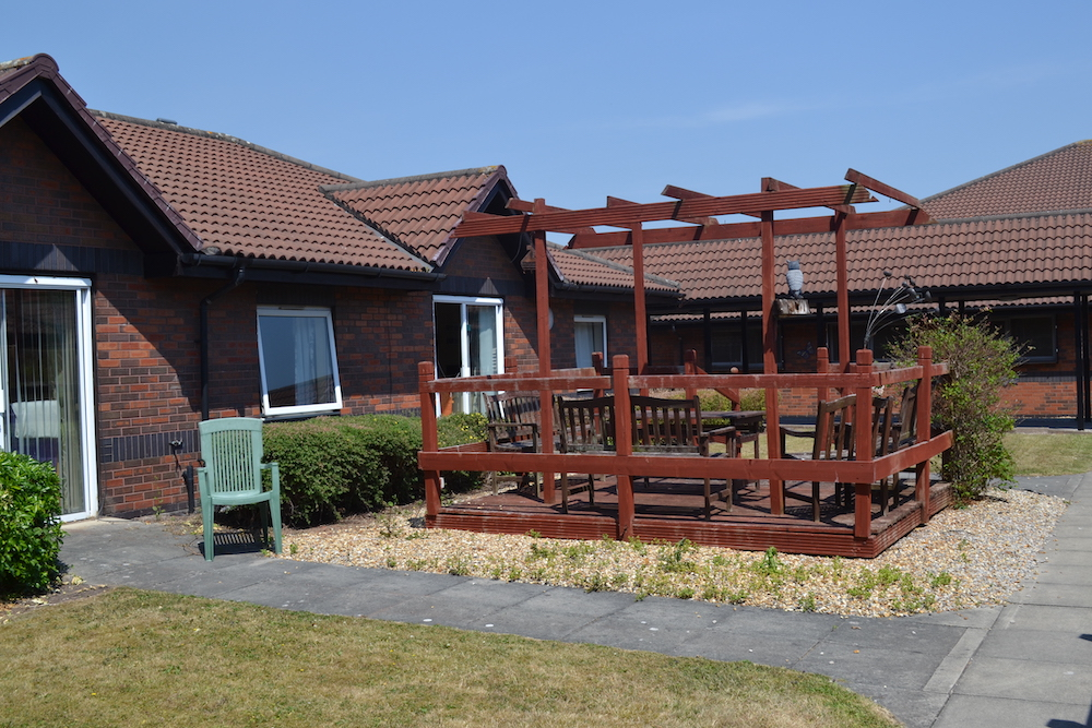 Stonedale Lodge care home garden