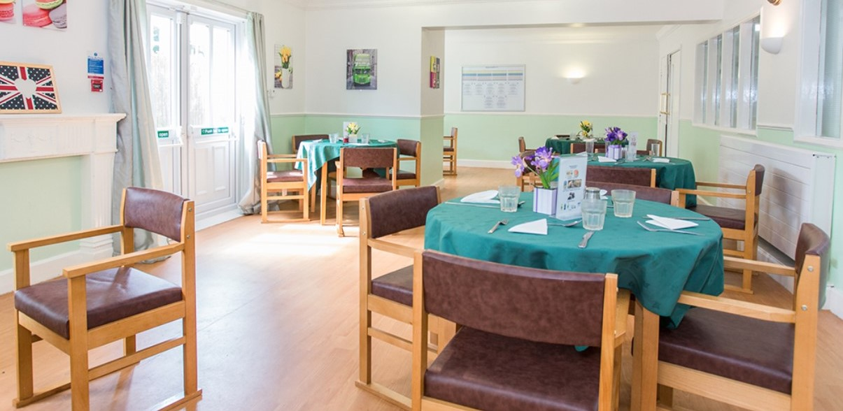 Kingsway care home dining