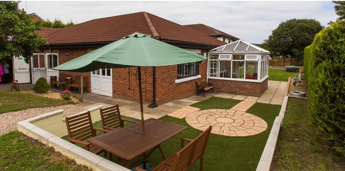 Kingsway care home garden