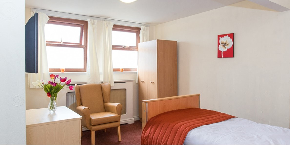 Roberttown Care Home Bedroom