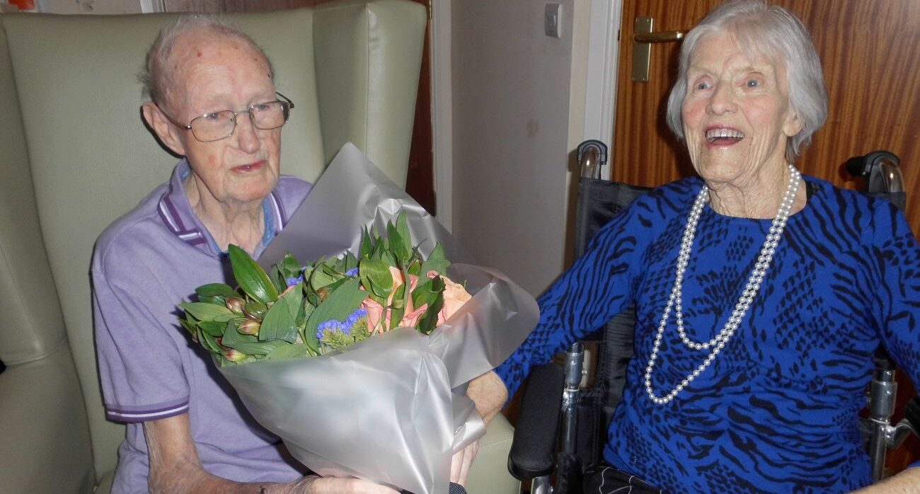 Devoted couple James and Elizabeth Kerr celebrated an incredible 70 years of marriage at a special party at Hill View Care Home.