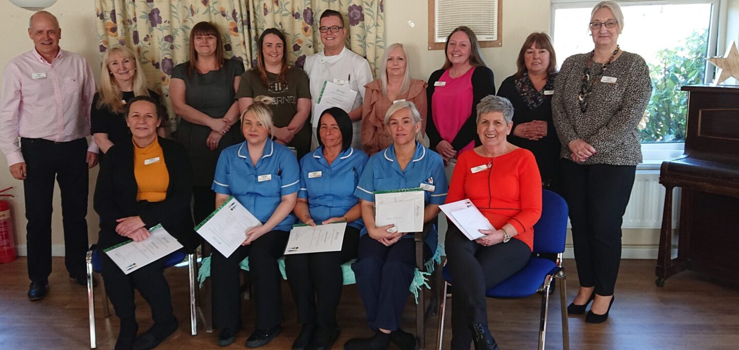 Our first cohort of Colleagues are celebrating after completing Advinia Health Care's Nursing Assistant Programme.