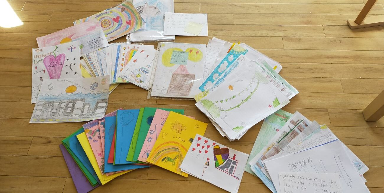 Young students from Greetland Academy in Halifax have inundated Woodfield Grange Care Home with cards and pictures full of messages of love and hope.