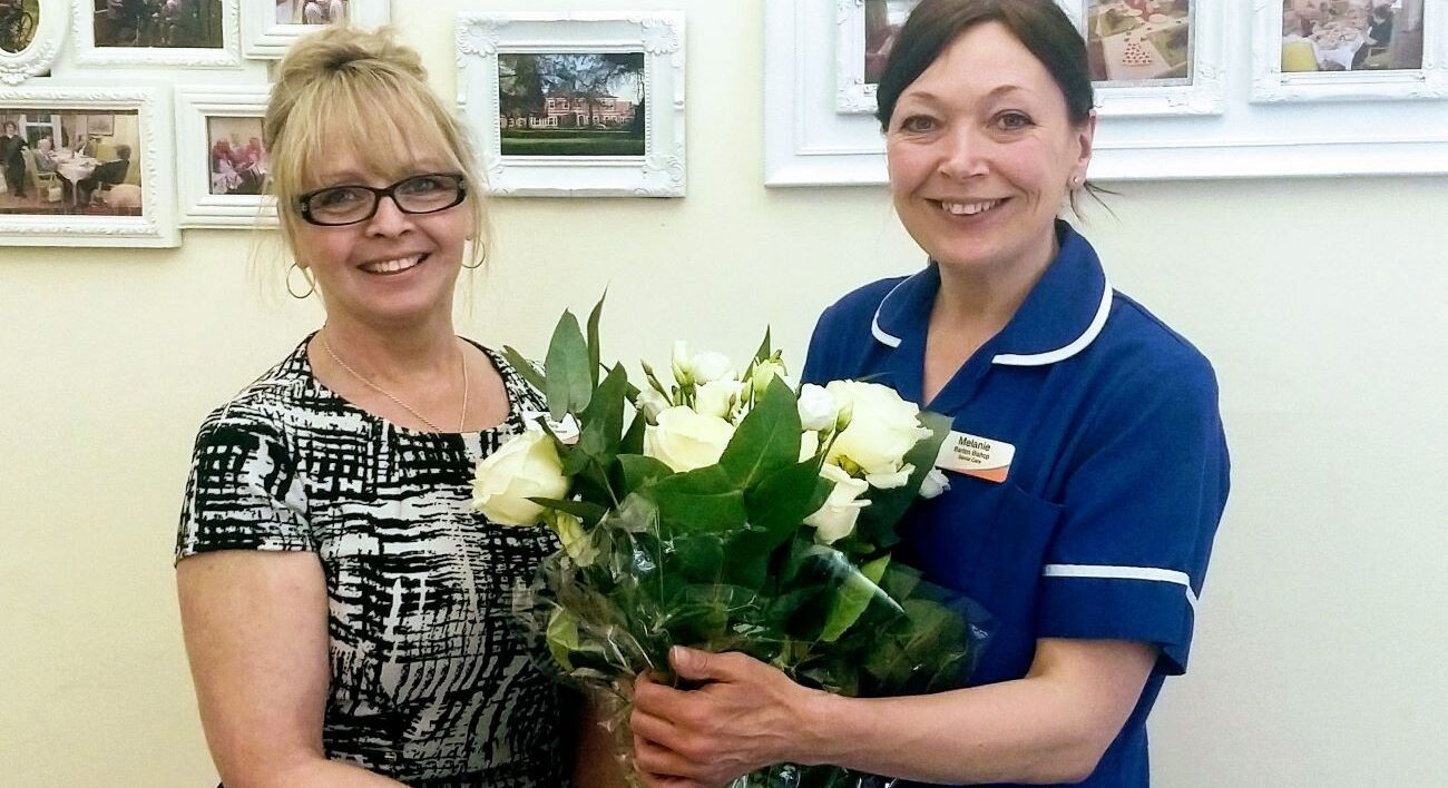 Colleague Melanie Barton-Bishop has been lauded for professional excellence following 29 years of service at Hammerwich Hall Care Home.