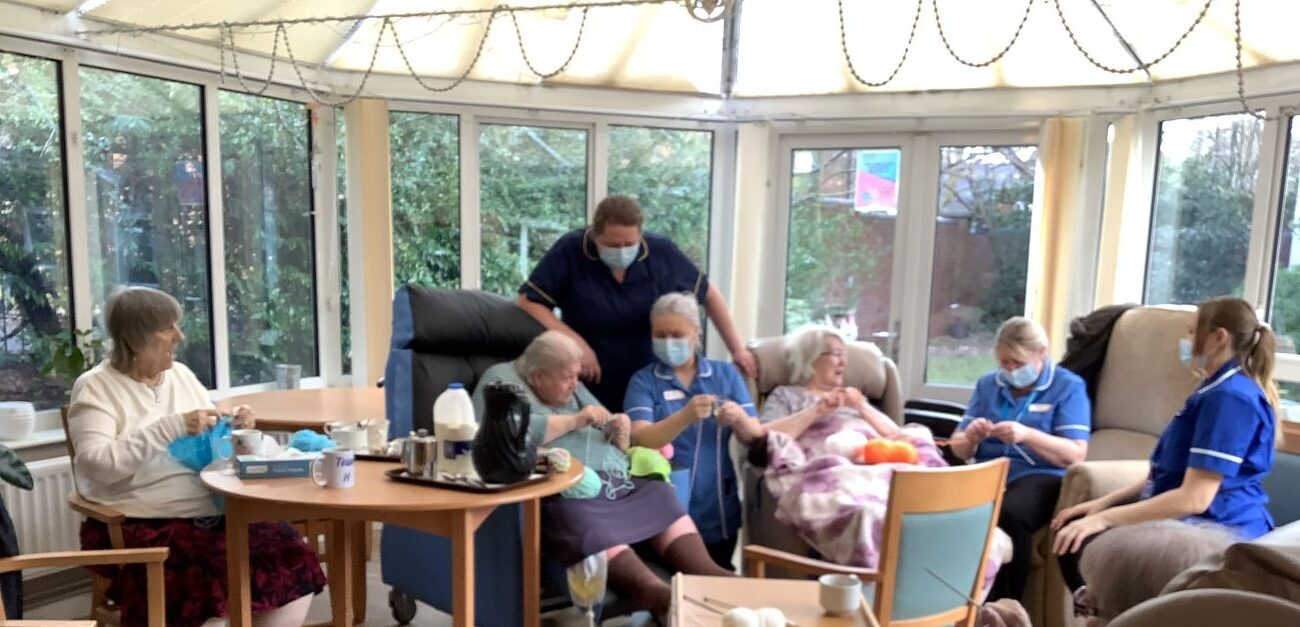 Creative Residents at Parklands Court have been putting on special knitting classes to share their skills.