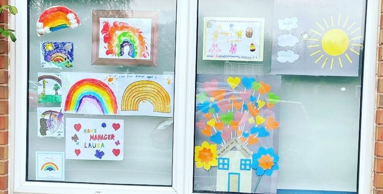 The Residents of West Ridings Care Home were deeply moved after receiving some special post from the children of local key workers.