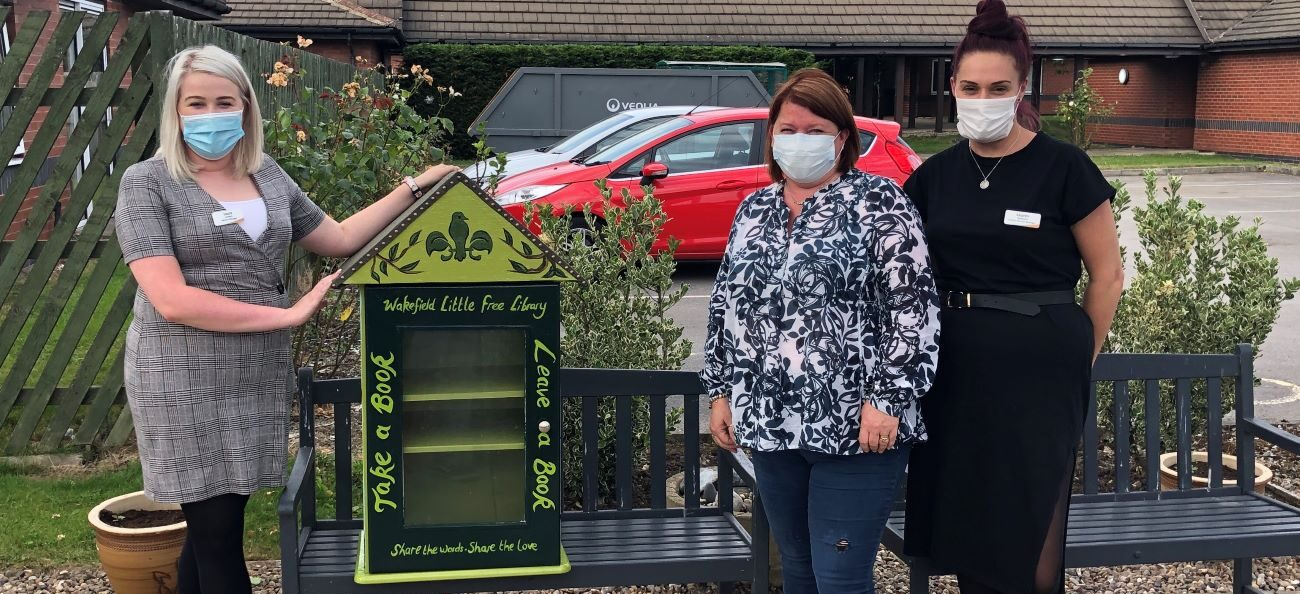 Residents at West Ridings care home can now borrow a bestseller from their own 'Little Library'.