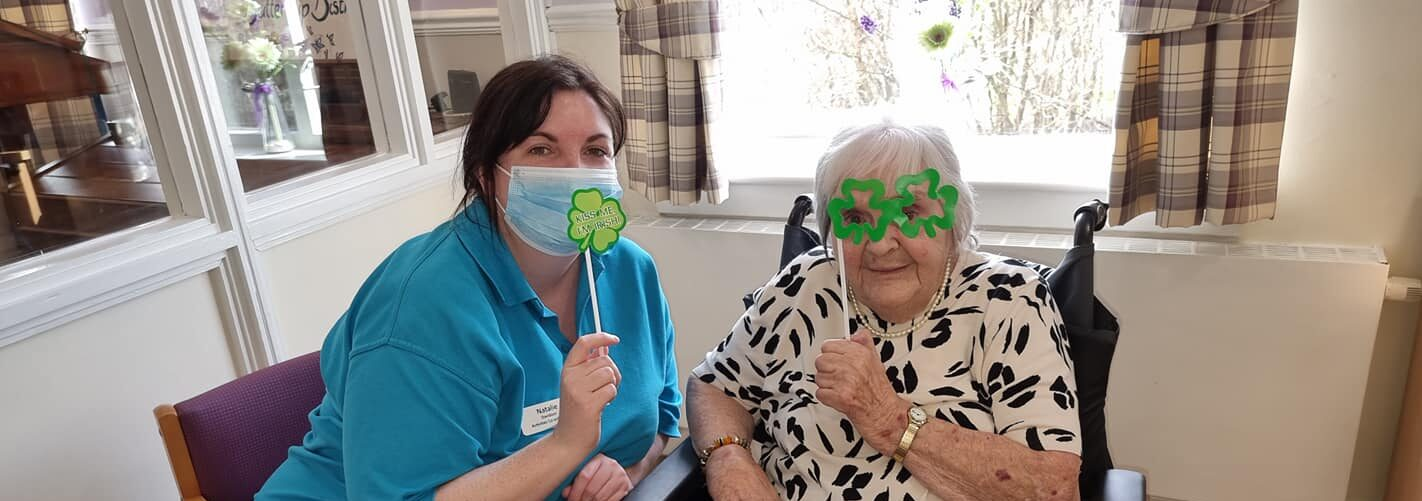 The Residents at Newcarron Court enjoyed a St. Patrick's Day to remember as they celebrated together.