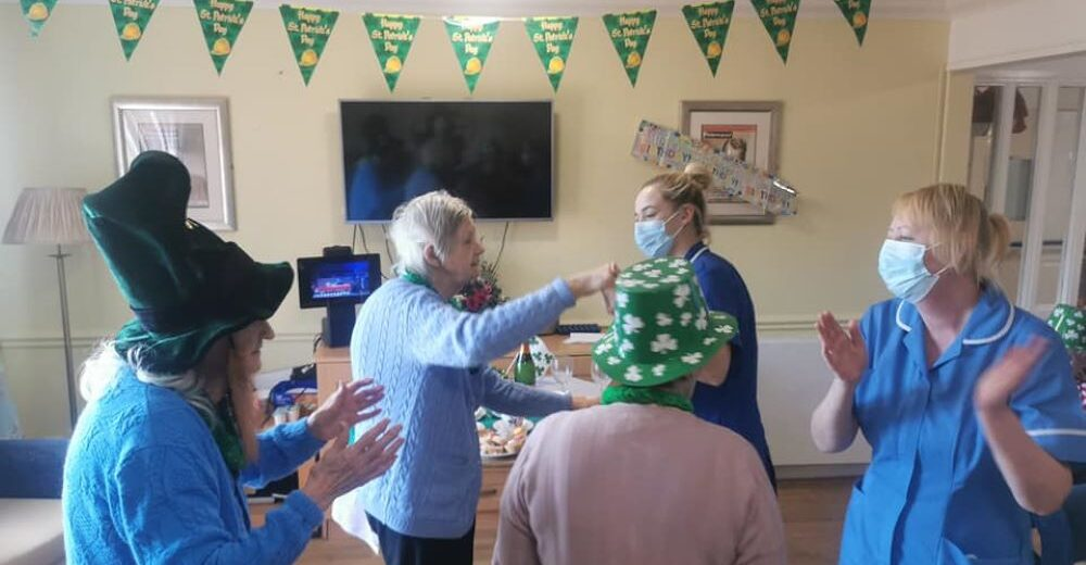 St. Patrick's Day was a lively affair at Haydale Care Home as Residents enjoyed an Irish jig and a 'Tipsy Afternoon Tea'.