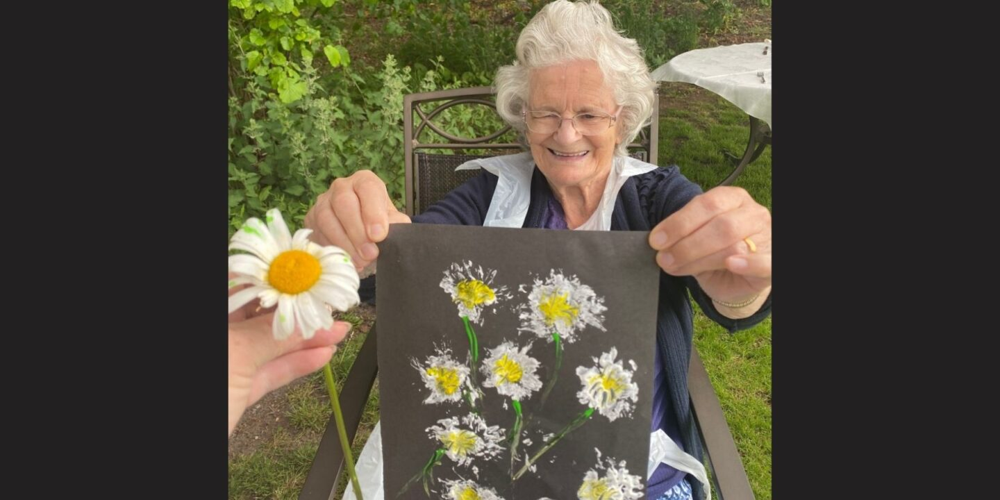Virginia's Flower Painting Given As Cherished Gift To Her Daughter