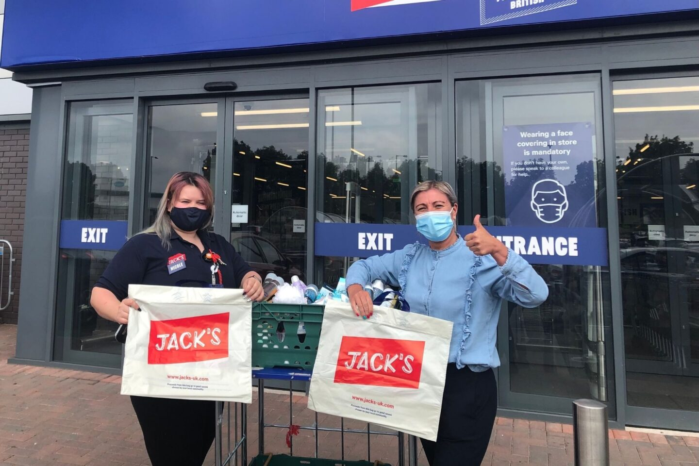 Supermarket Jack's Delights Stonedale Lodge Colleagues With Carers Week Donation
