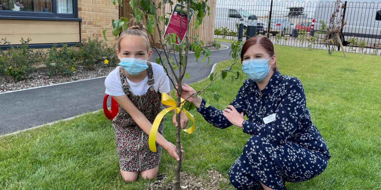 Local Grocer Honoured At Tree Planting Ceremony At Bishop's Cleeve Care Home